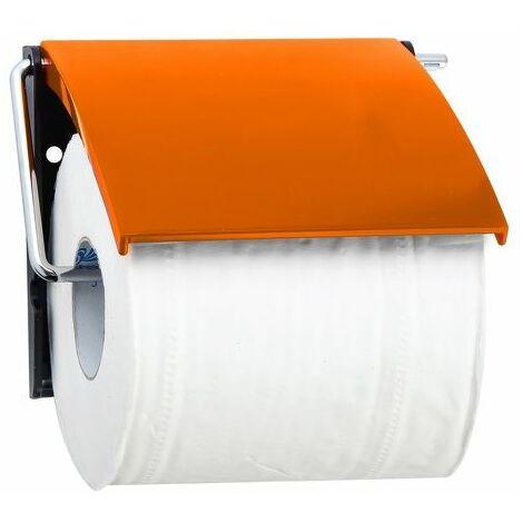MSV Porte Rouleau Papier Wc Mural PS & Métal chromé Orange - Orange