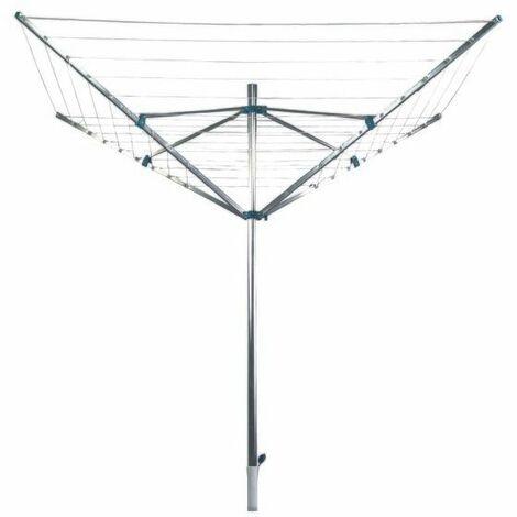 MSV Sechoir d'exterieur Parapluie Alu avec pied 50m - Gris