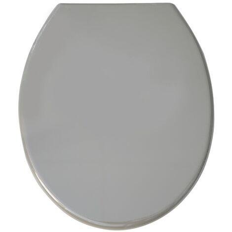 MSV WC Sitz Toilettendeckel PP WC Deckel – Grau