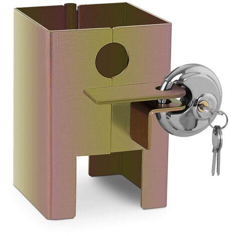MSW Cerradura para Remolque Bloqueo de Seguridad 2 llaves incluidas