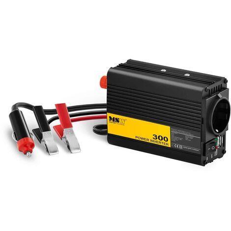 MSW Inversor de Corriente 300W DC 12V : AC 230V Incluye Adaptador para Auto