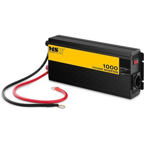 MSW Inversor de Corriente Onda Sinusoidal Pura 1.000W DC 12 V : AC 230 V