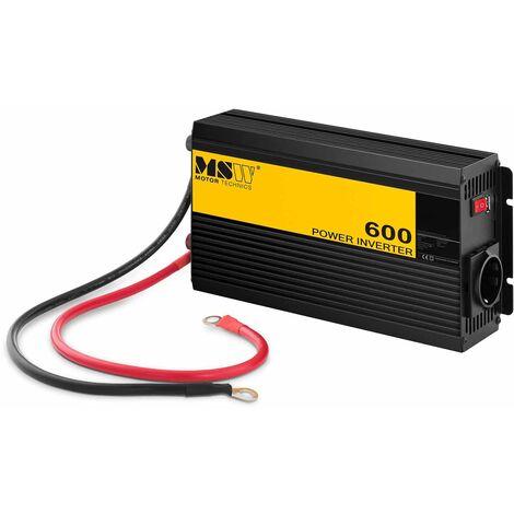 MSW Inversor de Corriente Onda Sinusoidal Pura 600W DC 12 V : AC 230 V