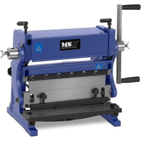 MSW Plegadora de Chapa Dobladora para Metal 3-en-1 Rodillos de Acero