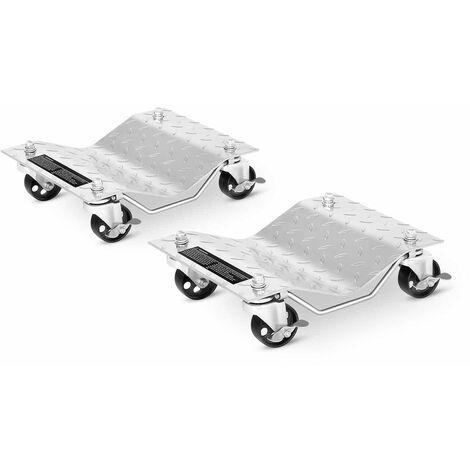 MSW Posicionador de Coches para Taller de Auto 2 Piezas de 74,9 x 28,5 mm