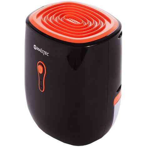 MTEC | Déshumidificateur d'air électrique 300 ml Puissance 22W | Absorbeur d'humidité effet Peltier | Tuyau évacuation 1m inclus | Noir
