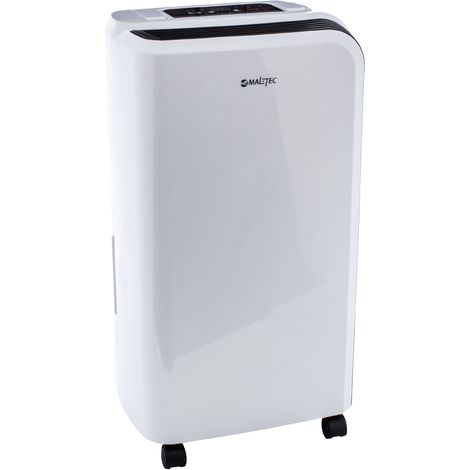 MTEC | Déshumidificateur d'air électrique + fonction dégivrage Puissance 205 W | Absorbeur d'humidité 2 systèmes d'évacuation | Blanc