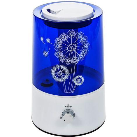 MTEC   Humidificateur d'air à ultrasons maison bébé capacité 2.2L Surface couverte 25 m2   Vapeur froid + Vaporisation 300 ml/h - Bleu