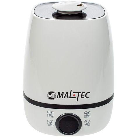 MTEC | Humidificateur d'air maison/bébé + Diffuseur d'Huiles Essentielles 23 W | 3 Modes de Brume Vapeur froid + lumières LED - Blanc