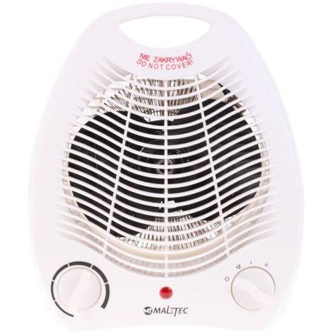 MTEC | Radiateur soufflant mobile 1000-2000 W | Chauffage d'appoint électrique + Ventilation + Protection anti-surchauffe | Blanc - Blanc
