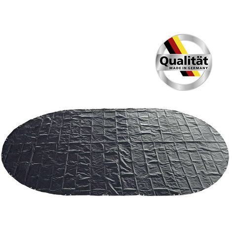 MTH Premium Oval- Achtformbecken Poolabdeckung 200g/m² blau/schwarz