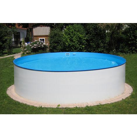 MTH Schwimmbecken, rund, 3,00m x 1,20m 0,6mm Stahlwand, Folie mit Keilbiese