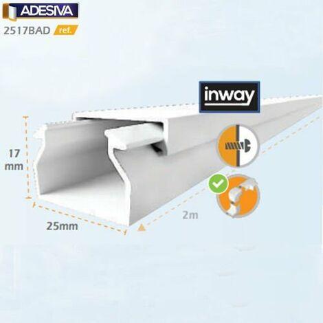 Mtr Canaleta Adhesiva 25x17mm