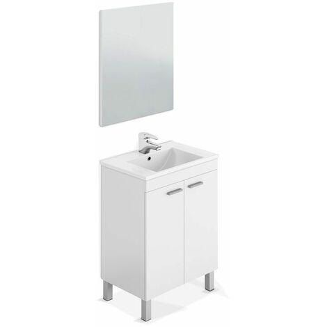 Mueble 60cm ancho lavabo y espejo