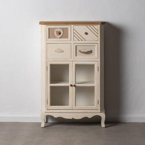 Mueble auxiliar Blanco - Natural