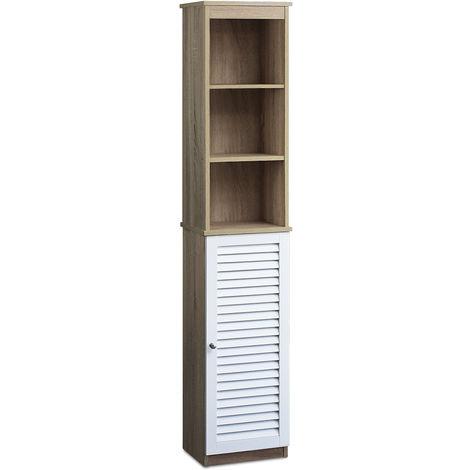 Mueble auxiliar de baño con 6 estantes 34 x 26 x 170 cm