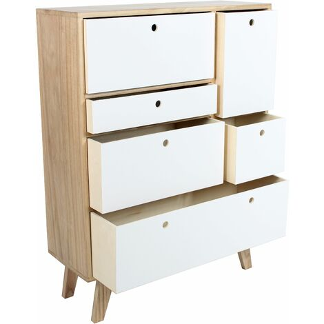 Mueble auxiliar Keiko Color: Haya/Blanco