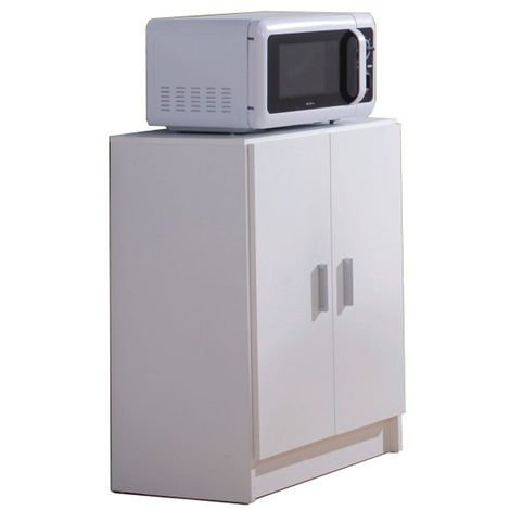 Mueble Auxiliar Mesa Cocina con un cajón y Dos Puertas, Color Blanco, Medidas: 80 Alto x 59 Ancho x 37cm de Fondo
