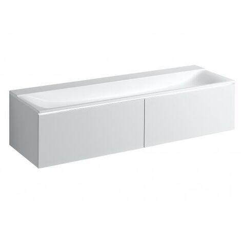 Mueble bajo encimera Geberit Xeno 2 500.348., 1595x350x473 mm, 2 cajones, para lavabo sobre material mineral, color: VARICOR blanco No. 016 - 500.346.01.1