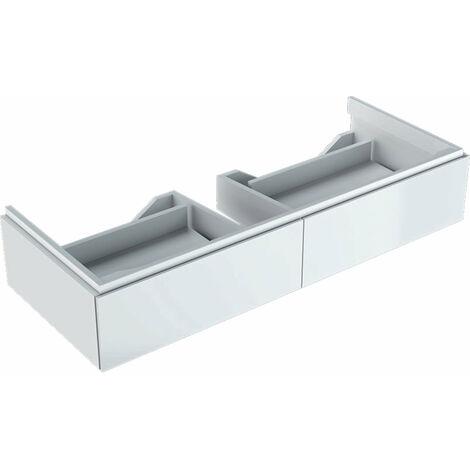 Mueble bajo encimera Geberit Xeno 2 500.517., 1174x220x462mm, 2 cajones, color: Laca blanca de alto brillo - 500.517.01.1
