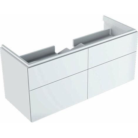 Mueble bajo encimera Geberit Xeno 2 500.518., 1174x530x462mm, 4 cajones, color: Laca blanca de alto brillo - 500.518.01.1