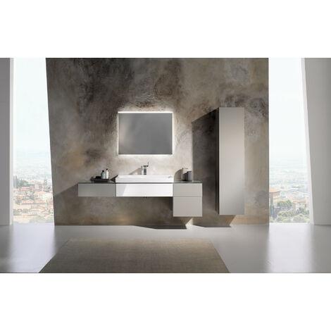 Mueble bajo encimera Geberit Xeno 2 con sifón a la derecha 500.514, 880x220x462mm, 1 cajón, color: Laca mate grisácea - 500.514.00.1