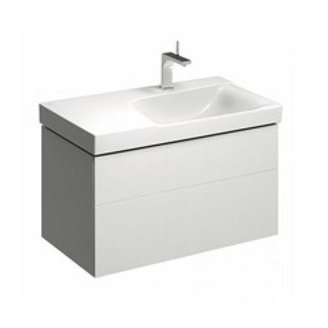 Mueble bajo encimera Geberit Xeno 2 con sifón a la derecha 500.516., 880x530x462mm, 2 cajones, color: Laca blanca de alto brillo - 500.516.01.1