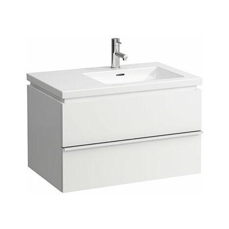 Mueble bajo encimera Laufen, 2 cajones, 455x745x475, apto para living square, color: Nieve (blanco mate) - H4014420754631