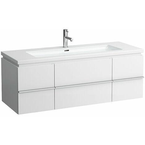 Mueble bajo encimera Laufen, 2 puertas 1 cajón, 460x1295x475, se adapta a la superficie de la vivienda, color: Nieve (blanco mate) - H4013110754631