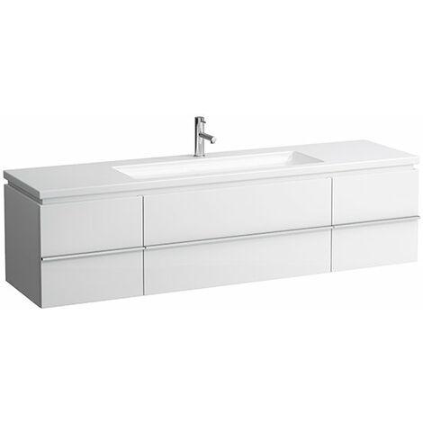 Mueble bajo encimera Laufen, 2 puertas, 2 cajones 1790x475x460, se adapta a la superficie de la vivienda, color: Blanco brillante - H4013620754751