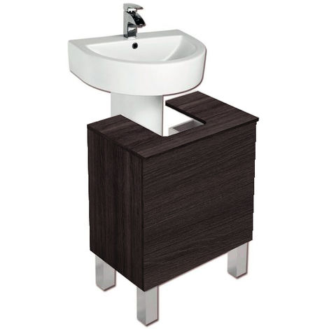 Mueble bajo lavabo con pedestal ROBLE SINATRA