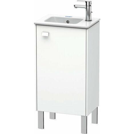 Mueble bajo lavabo Duravit Brioso de 42,0 x 28,9 cm, 1 puerta, con bisagra a la derecha, 1 balda de cristal, para lavabo ME by Starck 072343, Color (frente/cuerpo): Decoración blanco mate, mango blanco mate - BR4400R1818