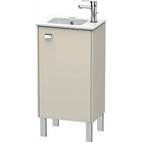 Mueble bajo lavabo Duravit Brioso de 42,0 x 28,9 cm, 1 puerta, con bisagra a la derecha, 1 balda de cristal, para lavabo ME by Starck 072343, Color (frente/cuerpo): Decoración lino, mango cromado - BR4400R1075