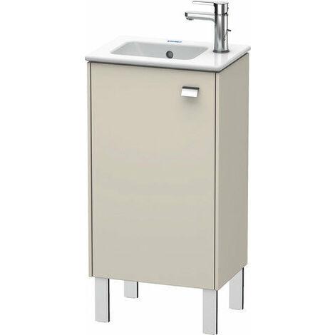 Mueble bajo lavabo Duravit Brioso de 42,0 x 28,9 cm, 1 puerta, con bisagra a la izquierda, 1 balda de cristal, para lavabo ME by Starck 072343, Color (frente/cuerpo): Decoración lino, mango cromado - BR4400L1075