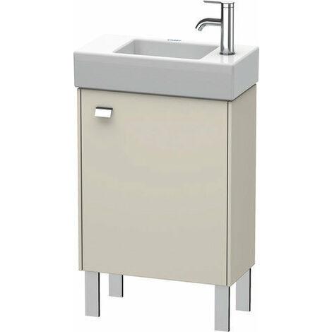 Mueble bajo lavabo Duravit Brioso de 48,4 x 23,9 cm, 1 puerta, con bisagra a la derecha, 1 balda de cristal, para lavabo Vero Air 072450, Color (frente/cuerpo): Decoración lino, mango cromado - BR4431R1075
