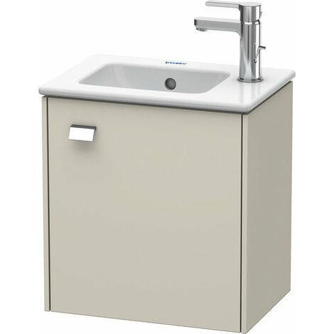 Mueble bajo lavabo Duravit Brioso de pared 42,0 x 28,9 cm, 1 puerta, con bisagra a la derecha, para lavabo ME by Starck 072343, Color (frente/cuerpo): Decoración lino, mango cromado - BR4000R1075