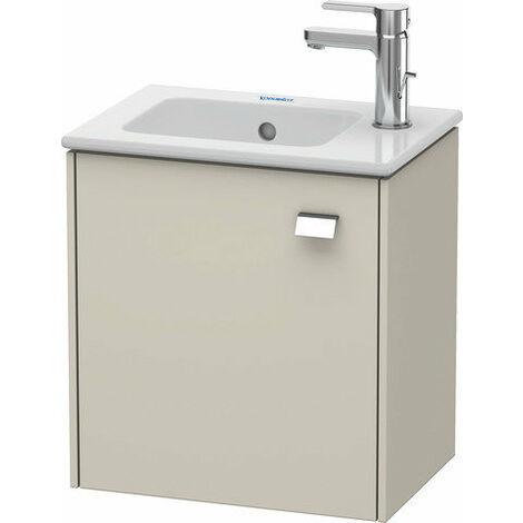 Mueble bajo lavabo Duravit Brioso de pared 42,0 x 28,9 cm, 1 puerta, con bisagra a la izquierda, para lavabo ME by Starck 072343, Color (frente/cuerpo): Decoración lino, mango cromado - BR4000L1075