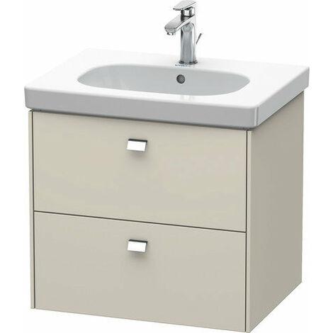 Mueble bajo lavabo Duravit Brioso de pared 62,0 x 46,9 cm, con 2 cajones, con sifón y delantal, para lavabo D-Código 034265, Color (frente/cuerpo): Ticino decorado en madera de cerezo, mango cromado - BR414501073