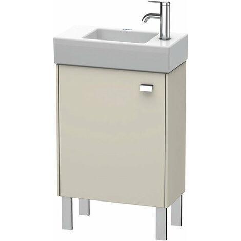 Mueble bajo lavabo Duravit Brioso de pie 48,4 x 23,9 cm, 1 puerta, con bisagra a la izquierda, 1 balda de cristal, para lavabo Vero Air 072450, Color (frente/cuerpo): Decoración lino, mango cromado - BR4431L1075