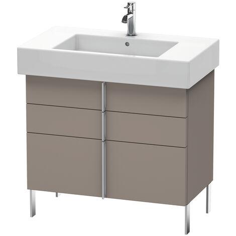 Mueble bajo lavabo Duravit Vero 6413, con 2 cajones y 1 extraíble, 800mm, Color (frente/cuerpo): roble oscuro cepillado chapa de madera auténtica - VE641307272