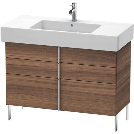 Mueble bajo lavabo Duravit Vero de pie 6414, con 2 cajones y 1 extraíble, 1000mm, Color (frente/cuerpo): Decoración Castaño Oscuro - VE641405353
