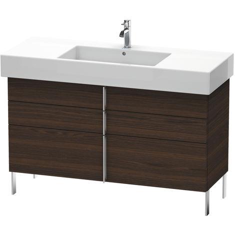 Mueble bajo lavabo Duravit Vero de pie 6415, con 2 cajones y 1 extraíble, 1200mm, Color (frente/cuerpo): Decoración Castaño Oscuro - VE641505353