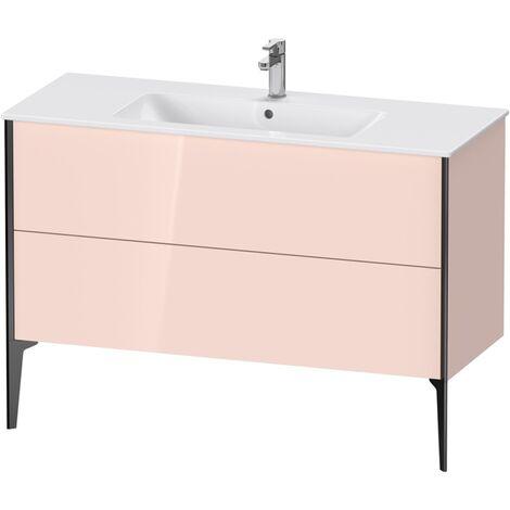 Mueble bajo lavabo Duravit Xviu 4484 vertical, 2 cajones, para lavabo ME by Starck 233612, 1210x480 mm,, Color (frente/cuerpo): negro mate/perla de ricotta hgl. - XV44840B210