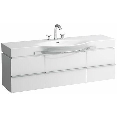 Mueble bajo lavabo Laufen, 1 cajón 1490x460x375, apto para lavabos palacio 811706, 812706, 813706, 814706, 814706, color: Decoración Roble Antracita - H4013510755481