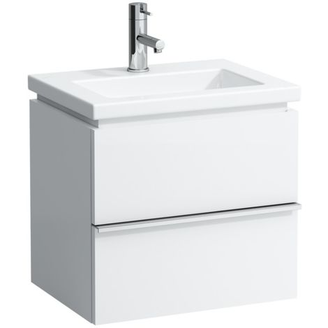 Mueble bajo lavabo Laufen, 1 cajón, 490x375x455, se adapta al cuadrado de la vivienda 1543.4, color: Nieve (blanco mate) - H4011410754631
