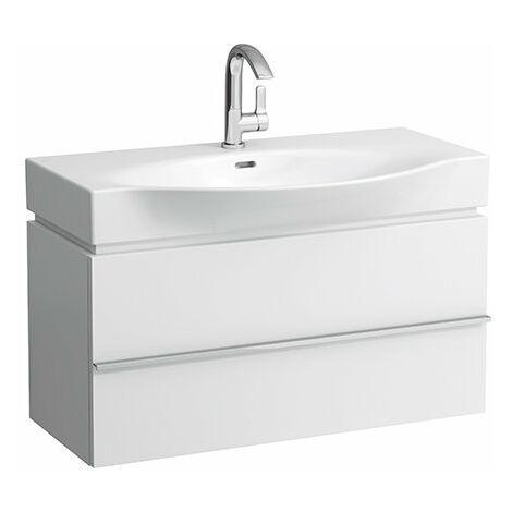Mueble bajo lavabo Laufen, 1 cajón, 895x460x375, para lavabos palacio 811702/3, color: Blanco brillante - H4012510754751