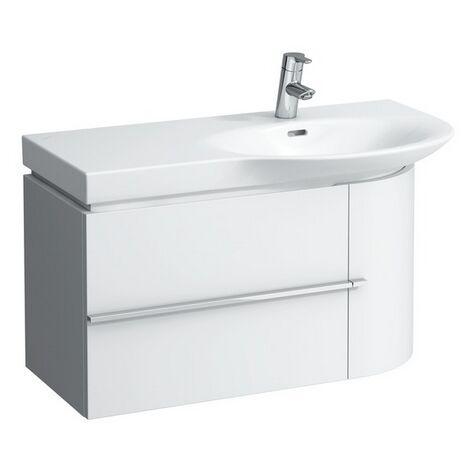 Mueble bajo lavabo Laufen, 1 puerta a la derecha, 1 cajón a la izquierda, 840x375x450, color: Blanco brillante - H4015010754571
