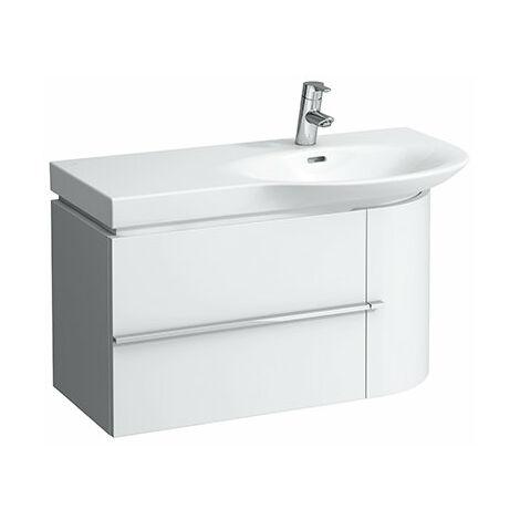 Mueble bajo lavabo Laufen, 1 puerta a la derecha, 1 cajón a la izquierda, 840x375x450, color: Decoración Roble Antracita - H4015010755481