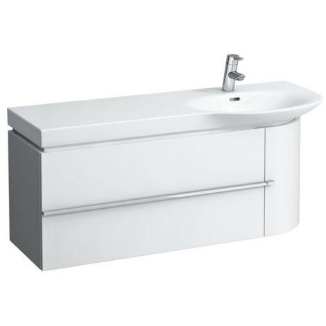 Mueble bajo lavabo Laufen, 1 puerta a la derecha, 2 cajones a la izquierda, 1140x375x450, color: Nieve (blanco mate) - H4016020754631