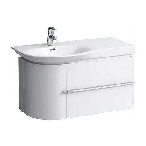 Mueble bajo lavabo Laufen, 1 puerta a la izquierda, 1 cajón a la derecha, 840x375x450, color: Roble Calizo - H4015310755191